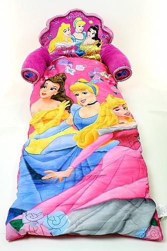 Disney Princess Kids Dark Pink Slumber Chair Combo Sleeping Bag By