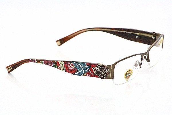 ED HARDY EHO716 Eyeglasses EHO-716 Brown Optical Frames