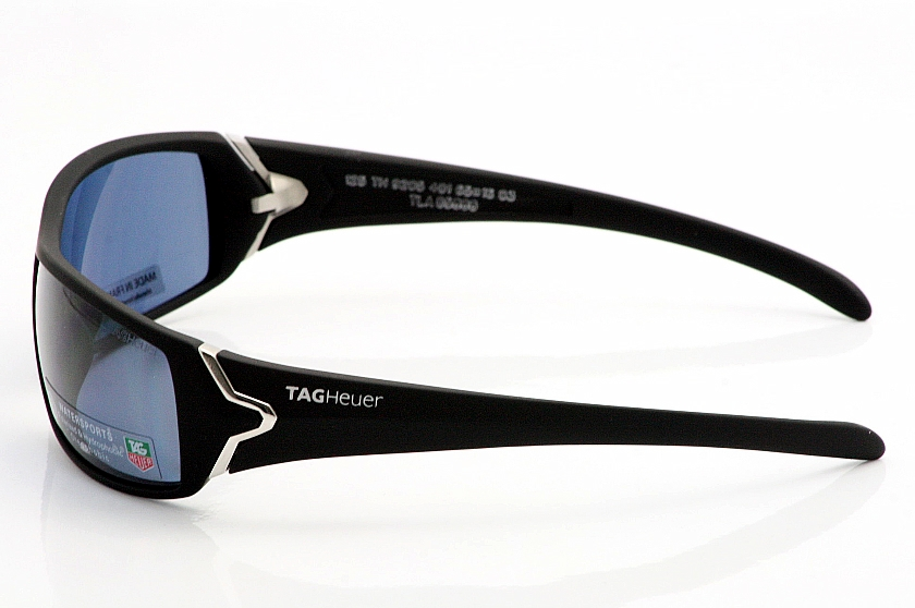 4244656137 Tag Heuer 9205 Sunglasses TagHeuer Polarized Racer Noir Shades by Tag Heuer