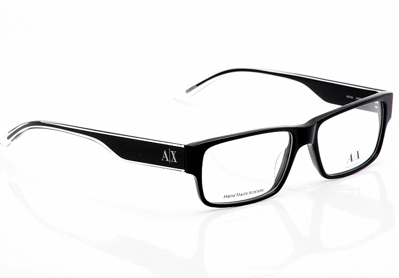 70dc49408713 Armani Exchange Eyeglasses AX145 Black Crystal Optical Frames by Armani  Exchange. Touch to zoom. 1234