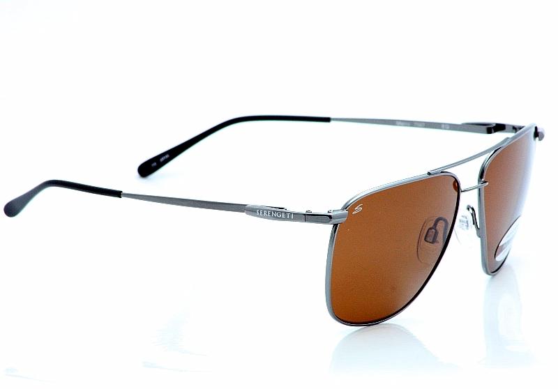 e45fbc85dab14 Serengeti Sunglasses Marco 7547 Shiny Gunmetal Polarized Shades by Serengeti