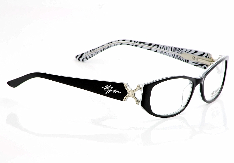 HARLEY-DAVIDSON HD 343 Eyeglasses HD343 Black Zebra BLK ...
