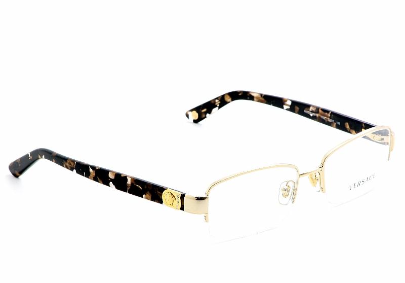 Versace Eyeglasses 1185-B Gold Optical Frames