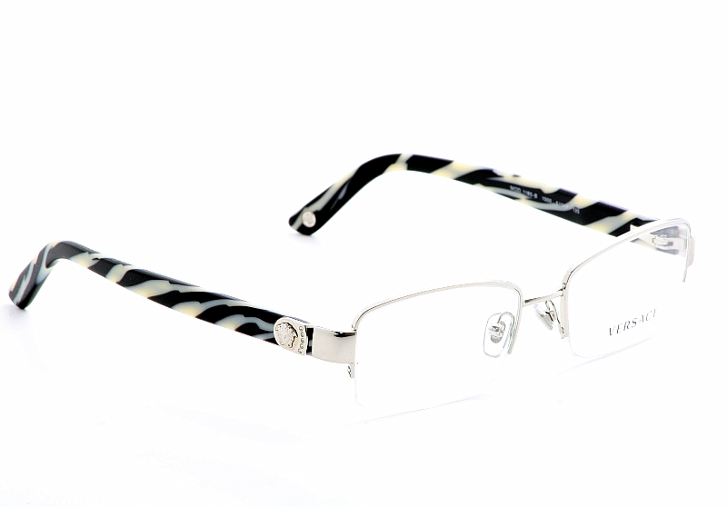 Half Frame Animal Print Reading Glasses with Case
