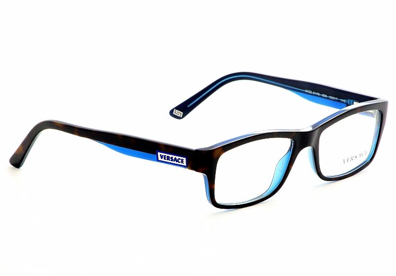 Versace Eyeglasses 3145 Havana Blue Optical Frames