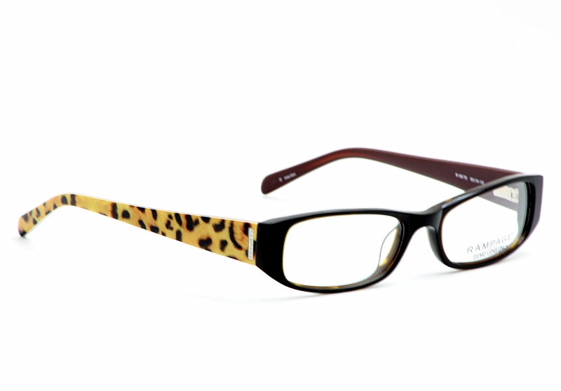 Rage Eyegles R150 Black Cheetah Print Optical Frame