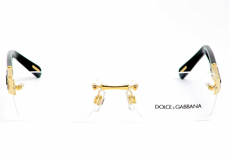 Dolce And Gabbana Black Eyeglass Frames : Dolce & Gabbana Eyeglasses 1210 D&G Gold/Black Optical ...