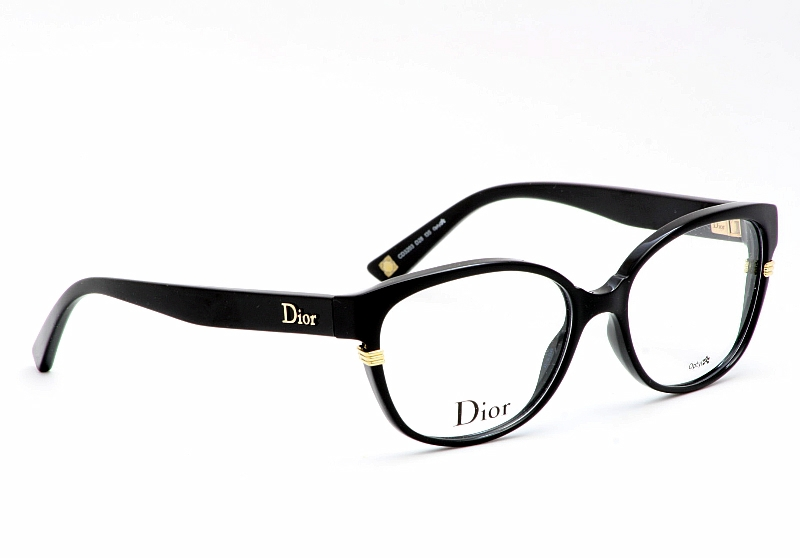 Dior Metal Eyeglass Frames : Christian Dior Eyeglasses 3203 Shiny Black Optical Frame ...