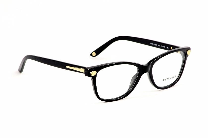 f3cf925321c2 Versace Eyeglasses 3153 Black Optical Frame by Versace