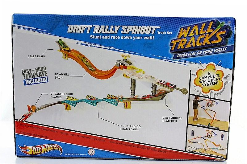 Mattel Hot Wheels Wall Tracks Drift Rally Spinout Toy V1050