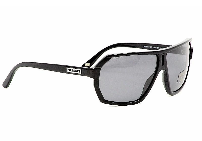 Black Versace Sunglasses  versace sunglasses 4197 black polarized shades clothing