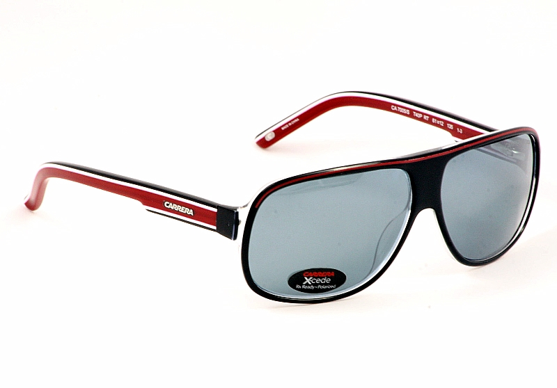 23837690960a Carrera X-cede Sunglasses 7005/S 7005S T40P Black/Red Shades by Carrera