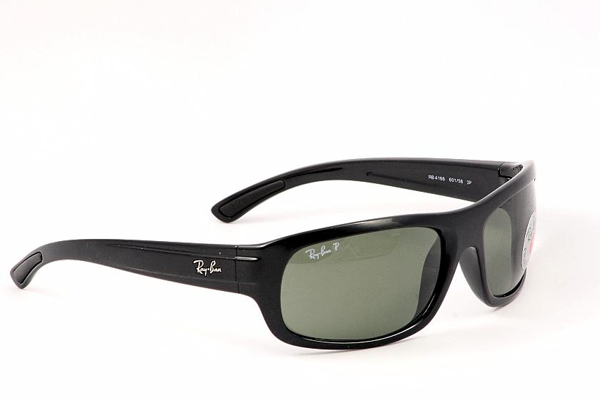 56ab54f40c ... Rayban Sunglasses Ray Ban 4166 60158 Shiny Black Polarized Shades by  Rayban classic fit c12cb 4ee63 ...