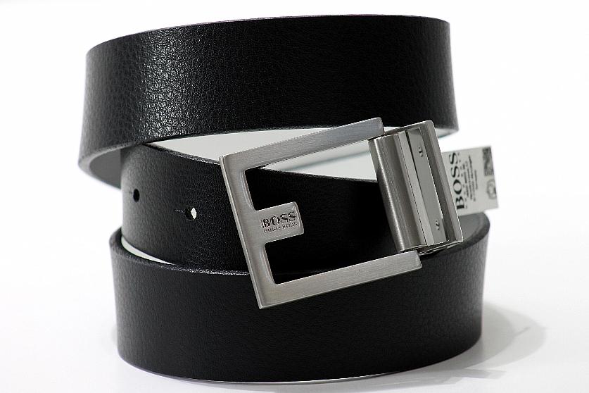e3b5231ea936 Hugo Boss Fleming-U Men s Black White Reversible Leather Belt by Hugo Boss