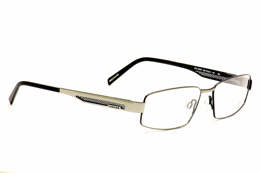 Jaguar Eyeglasses 33027 650 Silver/Black Optical Frames