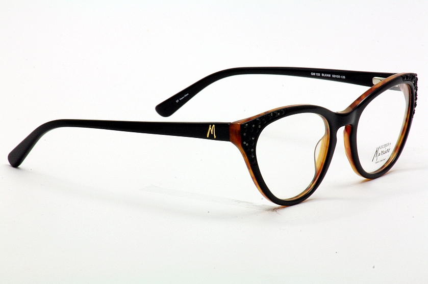 Guess Marciano Eyeglass Frames : Guess By Marciano Eyeglasses GM133 133 BLKAM Black/Amber ...