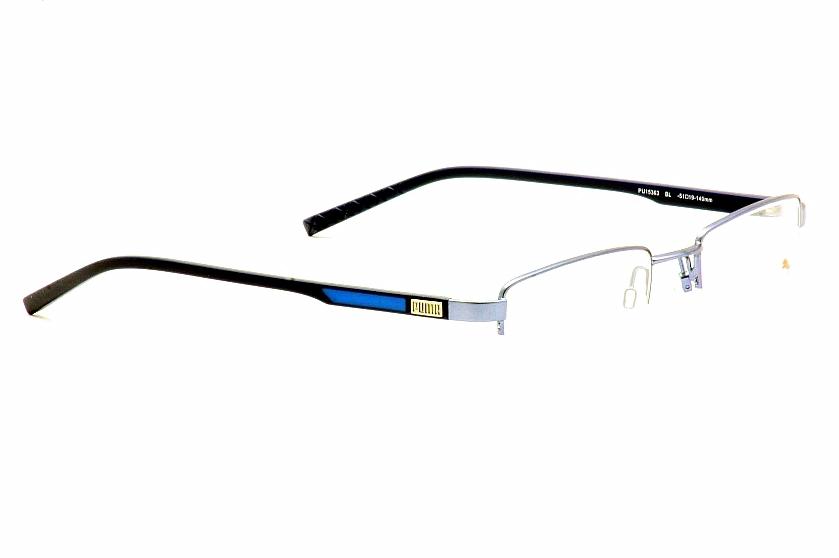 d0317265386 Puma Eyeglasses PU15363 PU 15363 Blue Half Rim Optical Frame