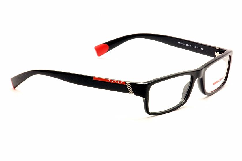 Prada Linea Rossa Eyeglasses VPS03C VPS 03C Rectangle Optical Frame