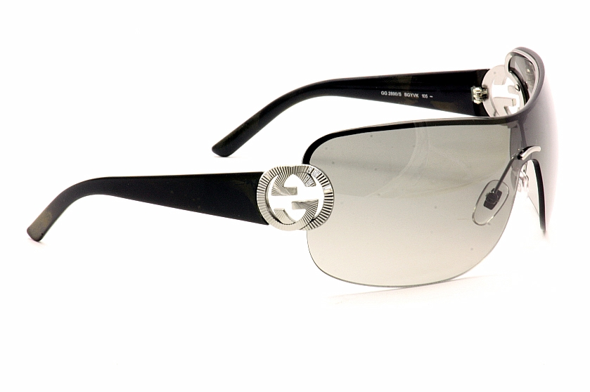 Gucci Shield Sunglasses  gucci 2890 s 2890s ruthenium black shield sunglasses 99mm