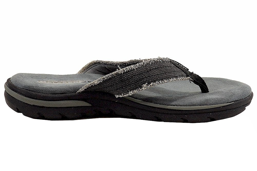 Skechers Men's Relaxed Fit Supreme-Bosnia Memory Foam Flip Flop Sandals  Shoes by Skechers