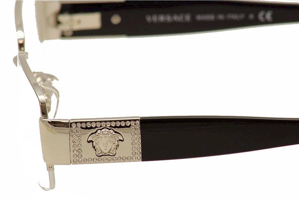 10064b6de72a Versace Women's Eyeglasses 1175-B 1175B Half Rim Optical Frame by Versace