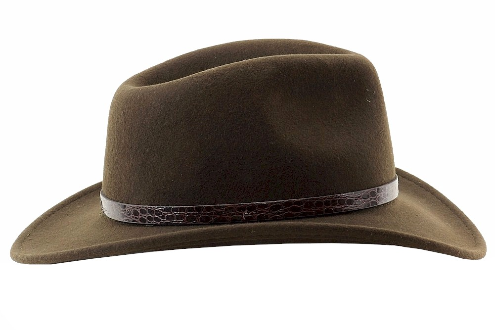b98962b4dab Indiana Jones Men s Crushable Wool Felt Outback Hat by Indiana Jones. Touch  to zoom
