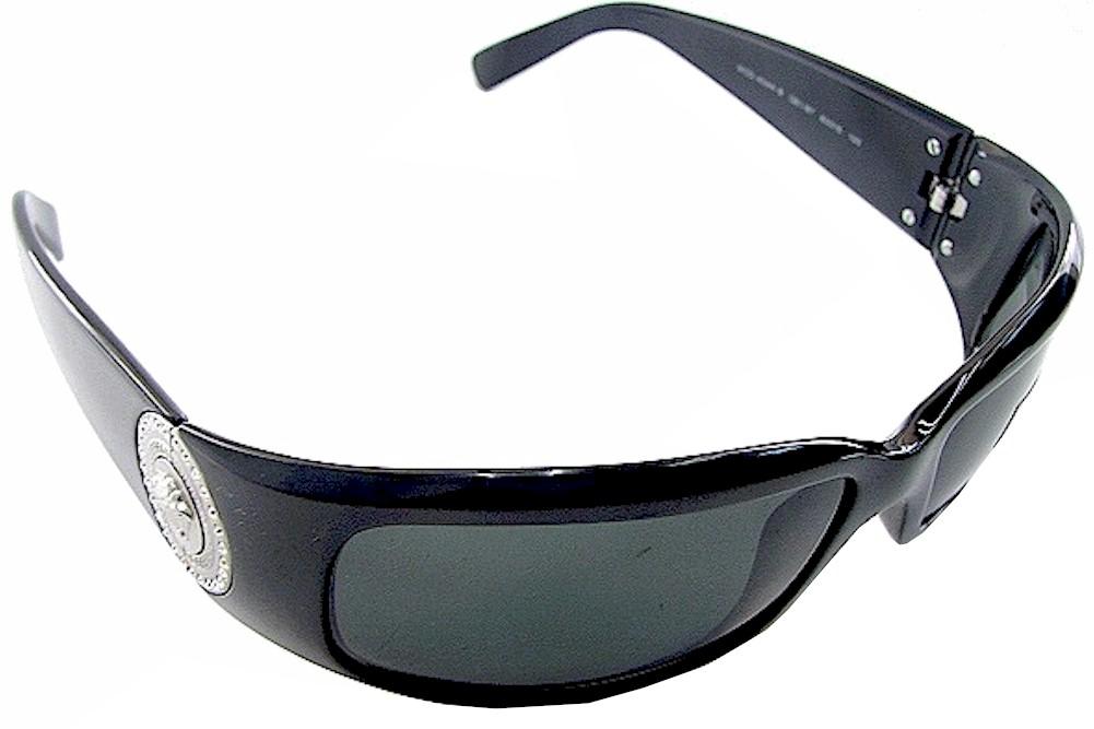 72a8e04fe7 Versace Women s 4044B 4044-B GB1 87 Black Gold Fashion Wrap Sunglasses 60mm by  Versace
