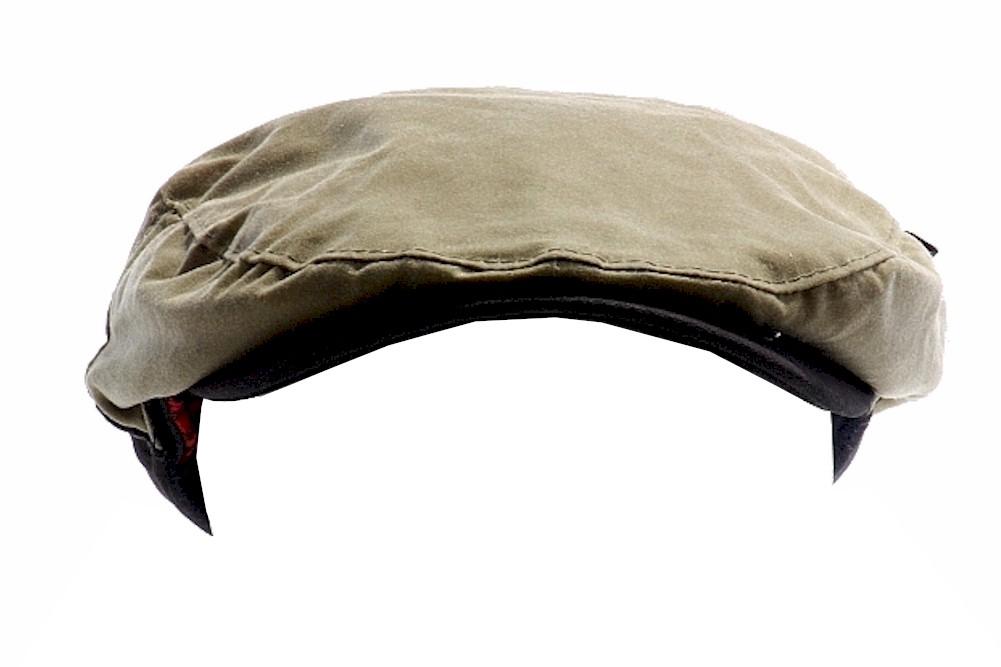 f2cf5e171 Woolrich Men's English Ivy Cap Tan Oil Cloth Hat