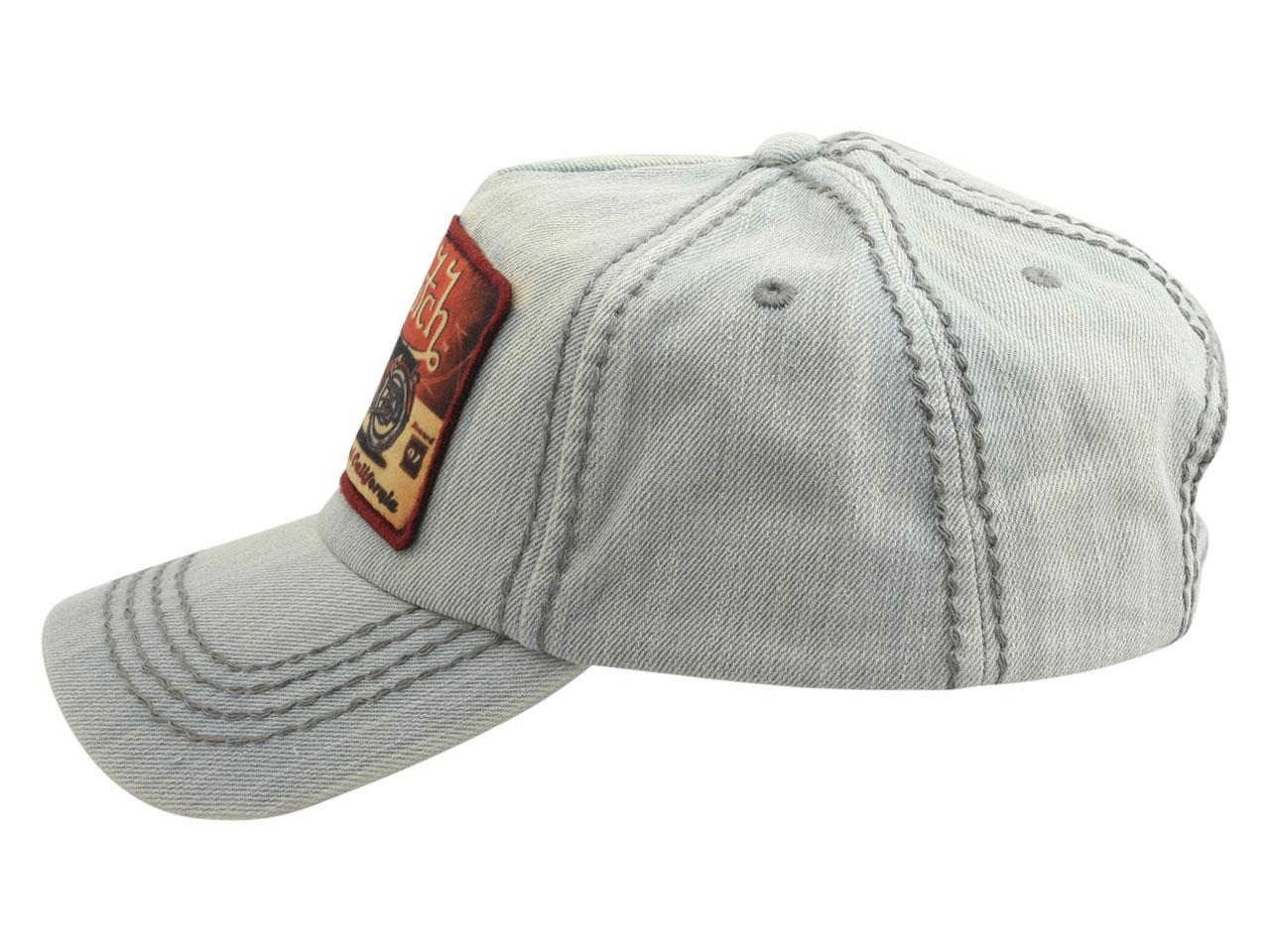 Von Dutch Men s Moto Patch Cotton Strapback Cap Hat by Von Dutch a47393a03111