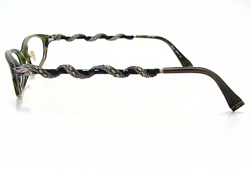 ED HARDY EHO710 Eyeglasses Vintage Tattoo EHO-710 Olive Optical Frames