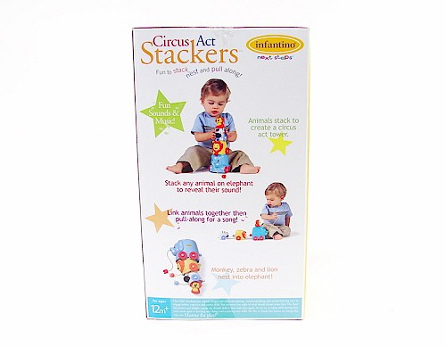 Infantino Circus Act Stackers Next Steps Toy