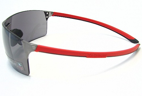 TAG HEUER 5501 Sunglasses TagHeuer Squadra 101 Red/Black Frame