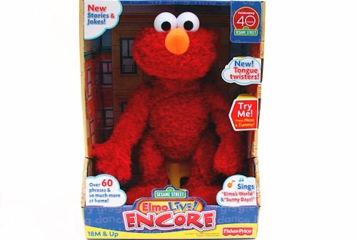 Sesame Street Musical Toys : Sesame street elmo live encore musical plush toy by
