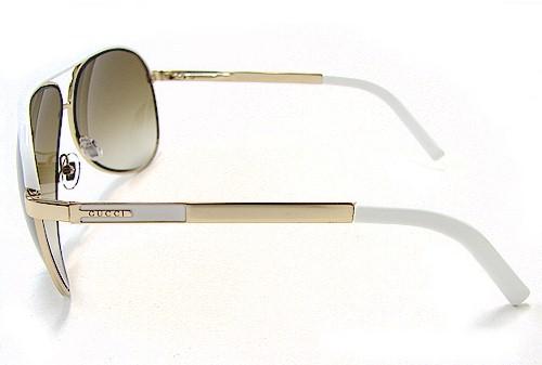 Gucci sunglasses 1827 s gold white dress