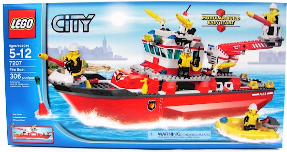 Lego City Fire Boat Building Instructions Ideas Traditional Wooden