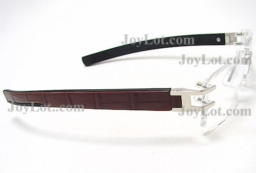 de431199cf ... Tag Heuer L Type 0120 Eyeglasses Alligator Skin Brown 001 Frame