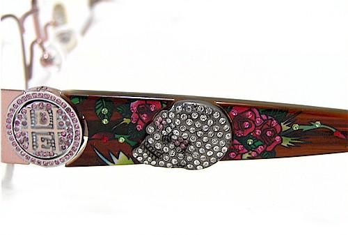 a2b63fa4dfe2 ED HARDY EHO711 Eyeglasses Vintage Tattoo EHO-711 Pink Sapphire Frames by Ed  Hardy