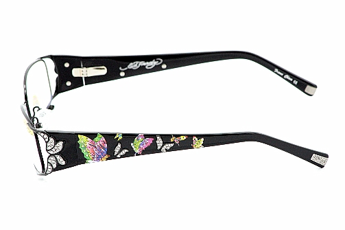 Ed Hardy EHO720 Eyeglasses EHO 720 Black Optical Frame