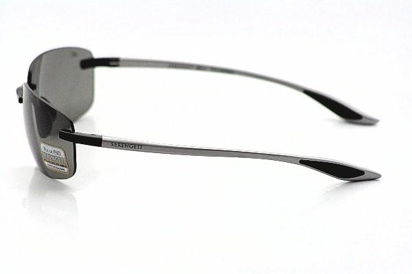 75ebd9bca145 Serengeti Rotolare 7478 Sunglasses Aluminum/Satin Black Shades by Serengeti