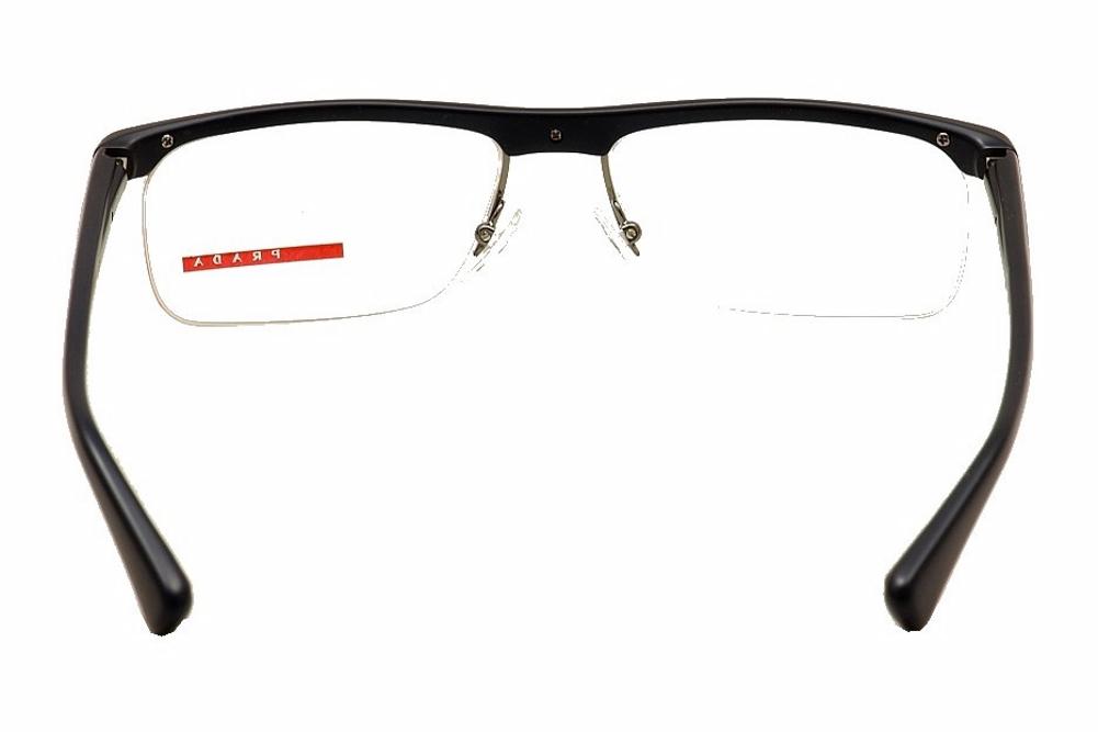 eb82d0844a7 Prada Linea Rossa Men s Eyeglasses VPS04C VPS 04C Semi Rim Optical Frame by Prada  Linea Rossa