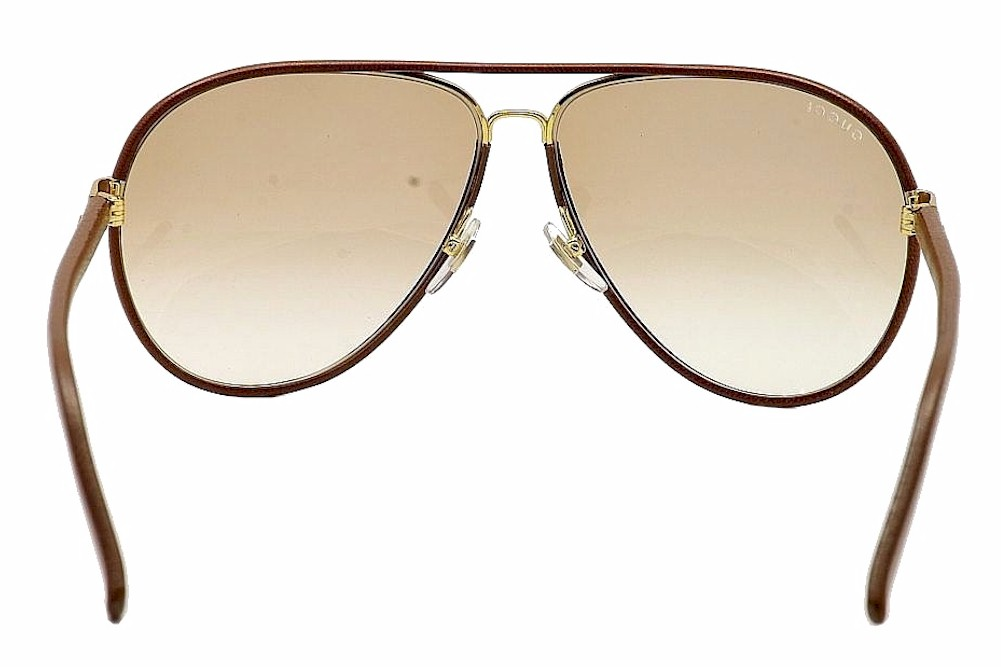 67254ca0d16 Gucci 2887S 2887 S Fashion Leather Aviator Sunglasses by Gucci
