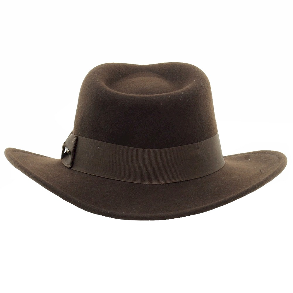 243dda009c8 Dorfman Pacific Men s Indiana Jones Crushable Wool Felt Fedora Hat by  Dorfman Pacific. Touch to zoom