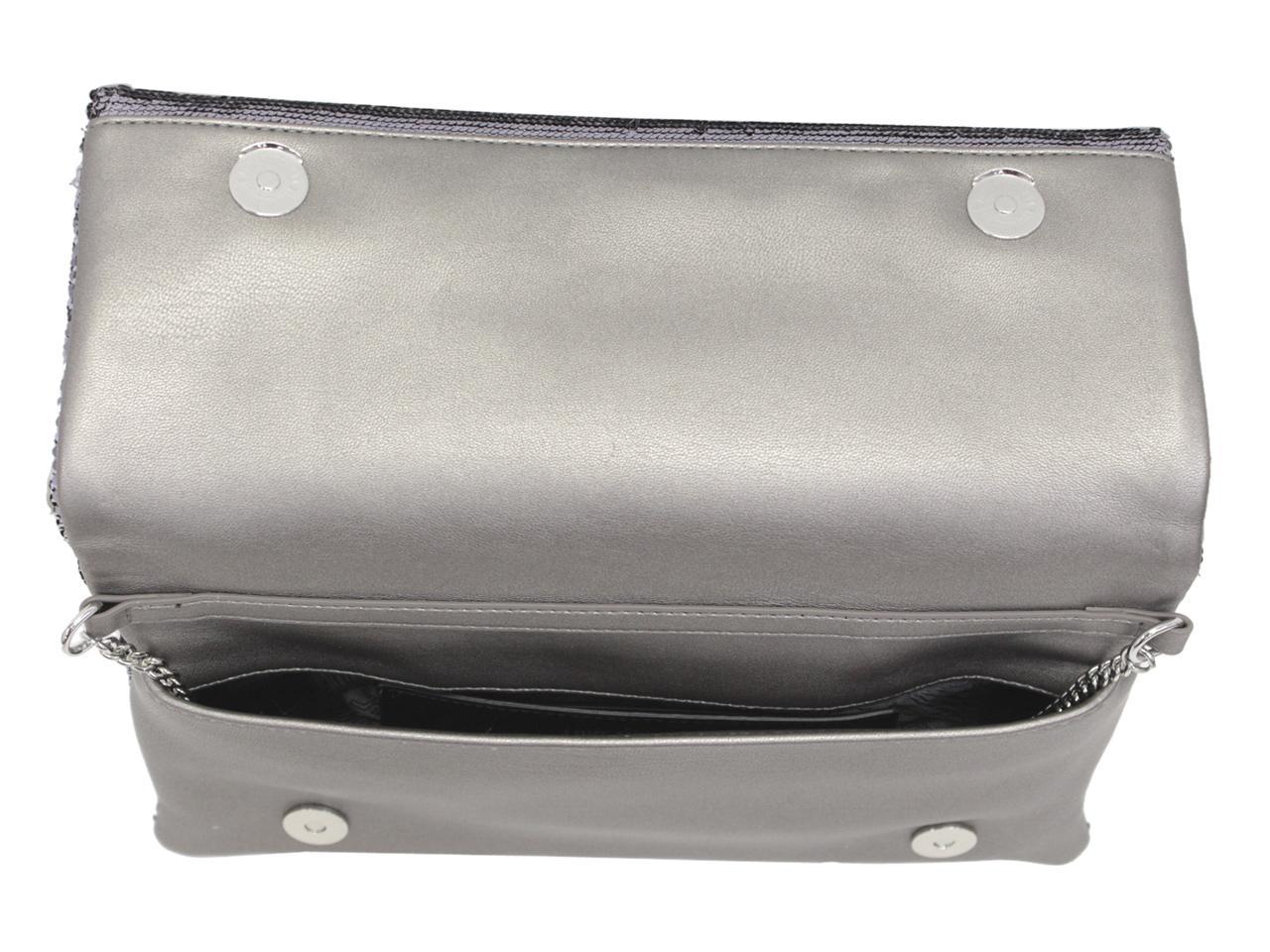 Love Moschino Women/'s Metallic Sequin Crossbody Evening Handbag