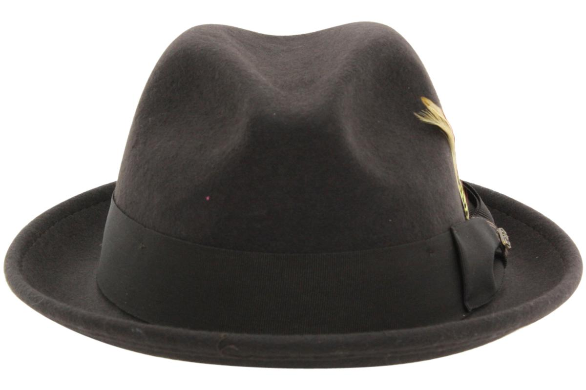 7f455752e6120 Scala Classico Men s Crushable Wool Felt Snap Brim Fedora Hat by Scala  Classico. Touch to zoom. 123456