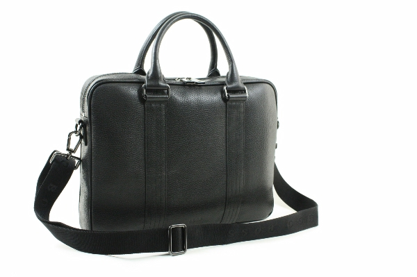 Hugo Boss Workbag Leather Laptop Bag Buxton Black Bags By