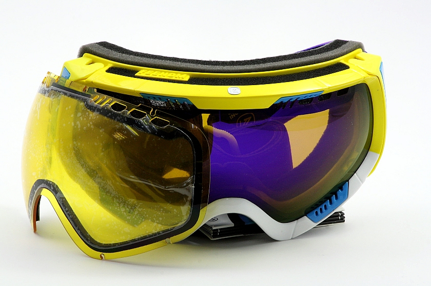 57be4bd0f882 VON ZIPPER Feenom Blok Yellow Astro Chrome YEL Snow Goggles by Von Zipper