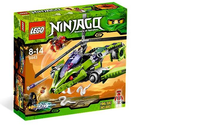 Lego Ninjago Masters Of Spinjitzu Rattlecopter 9443 Toy