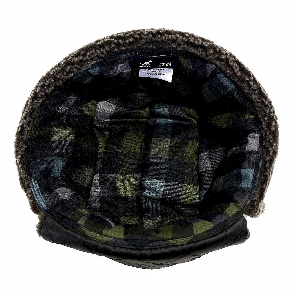 90b228e030e Kangol Men s Aviator K1416FA Quilted Military Trapper Hat