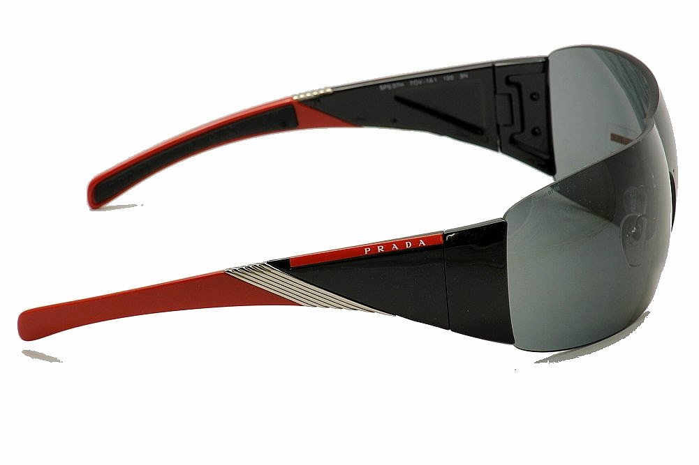 e0d2d4c2fb ... usa prada sps07h sps 07h shield sunglasses black red 7ov 1a1 33mm by  prada 32705 4680d