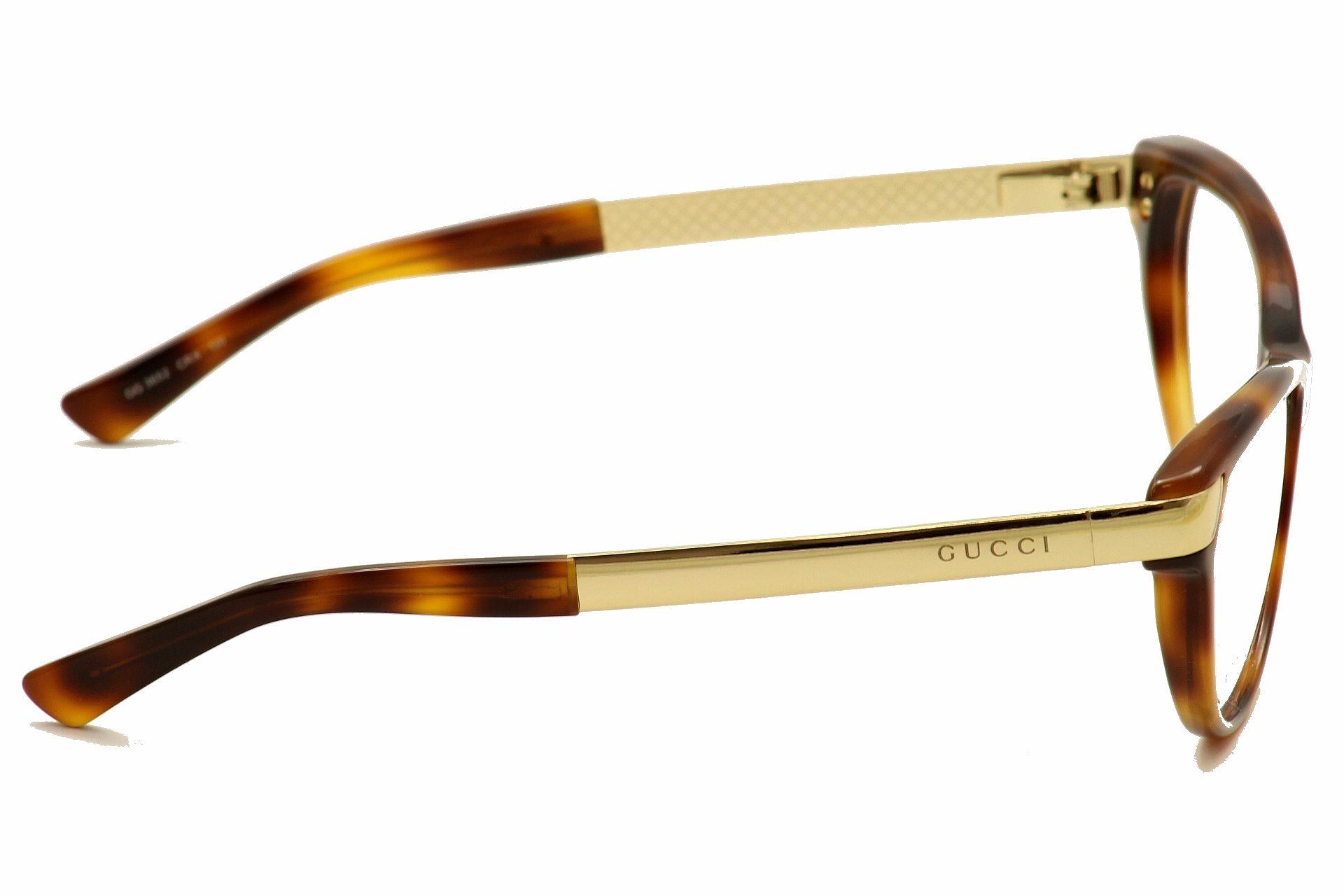 gucci womens eyeglasses 3652 cat eye optical frame